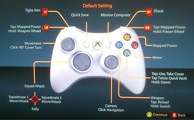 mass effect 3 controller