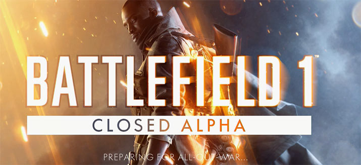Battlefield 1 Alpha Screen/Logo