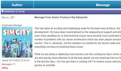 EA - SimCity 2013: More Servers, Bug Fix updates