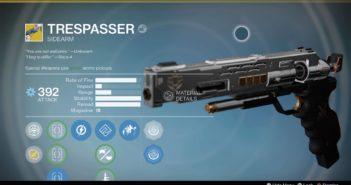 Destiny's Trespasser Exotic Sidearm