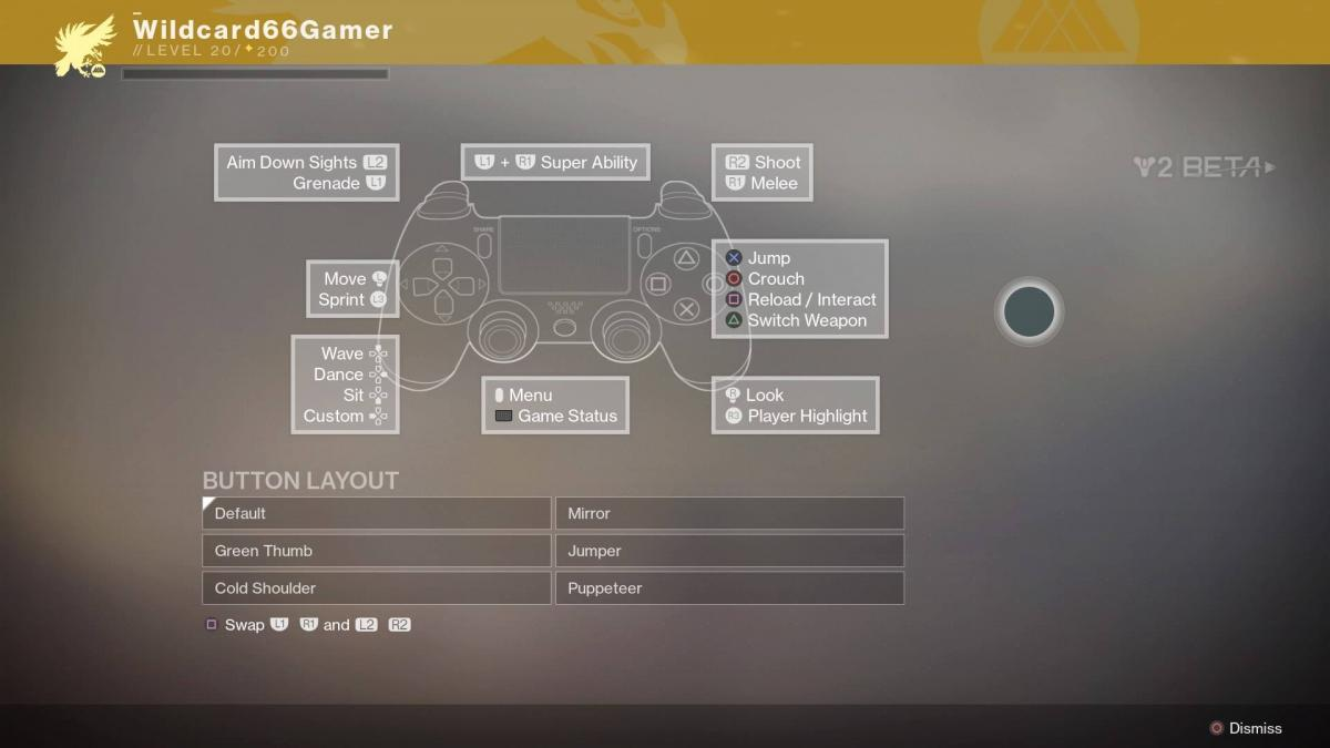 Destiny 2 (Beta) Controls for PS4 - Destiny 2