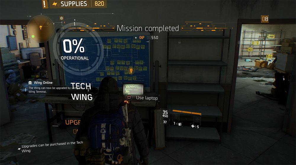 Paul Rhodes glitch fixed, Tech Wing Unlocked!