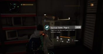 The Division: Survival Guide pages