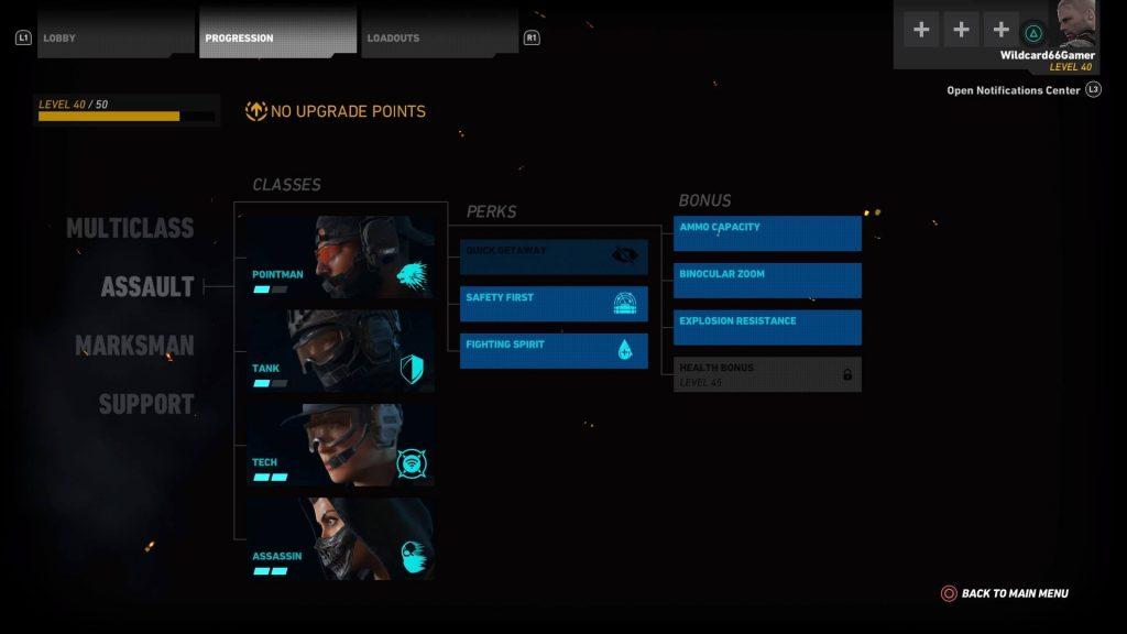 Ghost War Perks & Bonus Upgrades