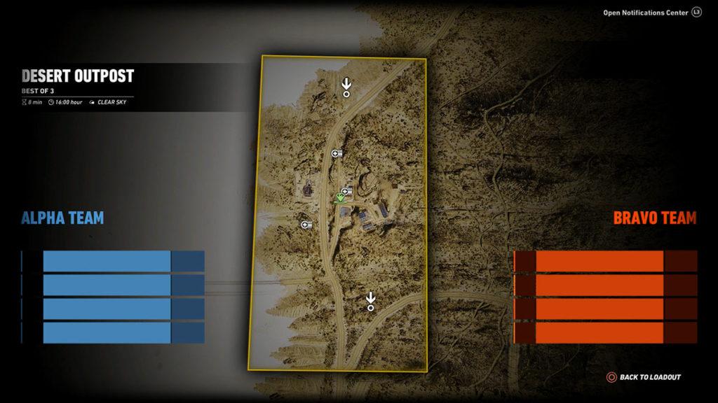 Ghost War PvP Map: Desert Outpost