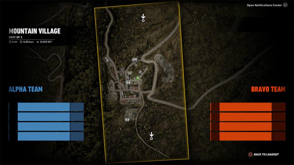 Ghost War PvP Map: Mountain Village