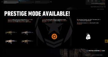 Ghost War Prestige Mode Available (lvl 50)