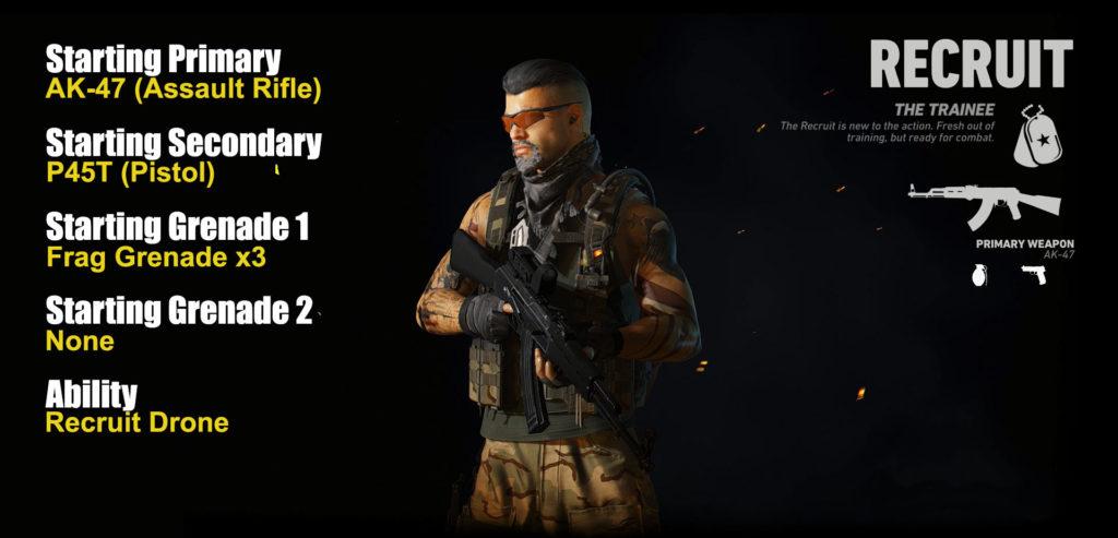 Ghost War PvP Multiclass Recruit Class