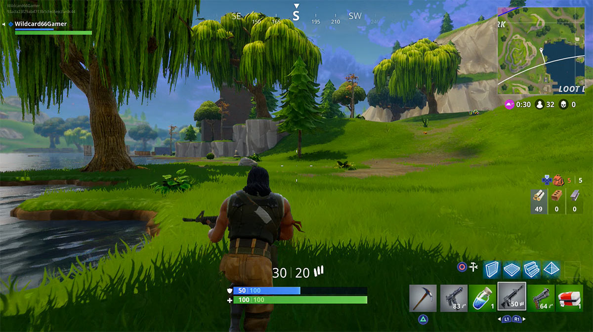 Fortnite Battle Royale with an Assault Rifle.