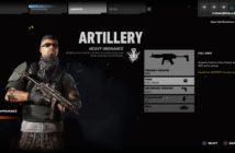 Artillery Class with the Full Bags Perk