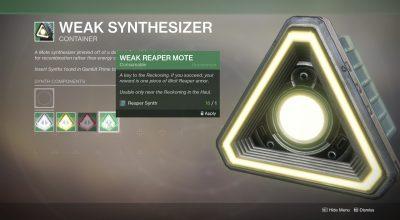 Destiny 2 weak synthesizer